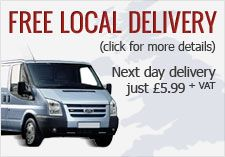 Free delivery to all North East postcodes (click for more details)