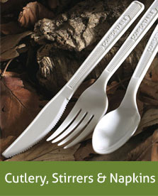 cutlery stirrers and napkins
