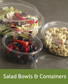 salad bowls and containers
