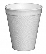 white polystyrene cups