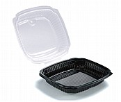 Large Microwavable Food Container With Hinged Lid x100