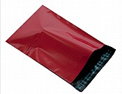 Red Plastic Mailing Bags 250 x 350mm