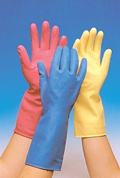 Rubber Gloves Large x1 Pair