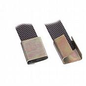 12mm Standard Semi Open Strapping Clips x2000