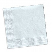 White Cocktail 25cm Napkins / Serviettes