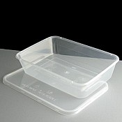 Clear Microwavable Containers & Lids 500cc