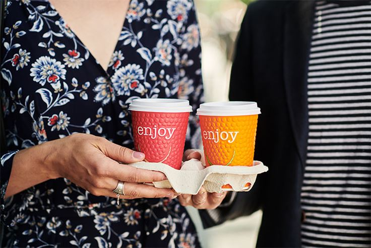 Enjoy Embossed Cups