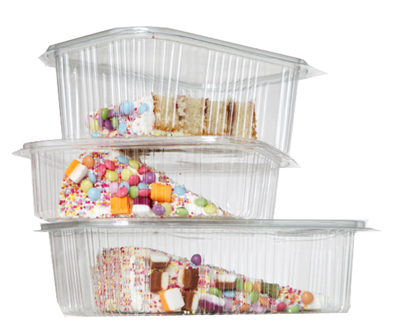 Cake Containers rPET Hinged
