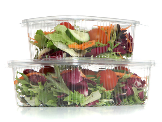 Salad Containers rPET Hinged