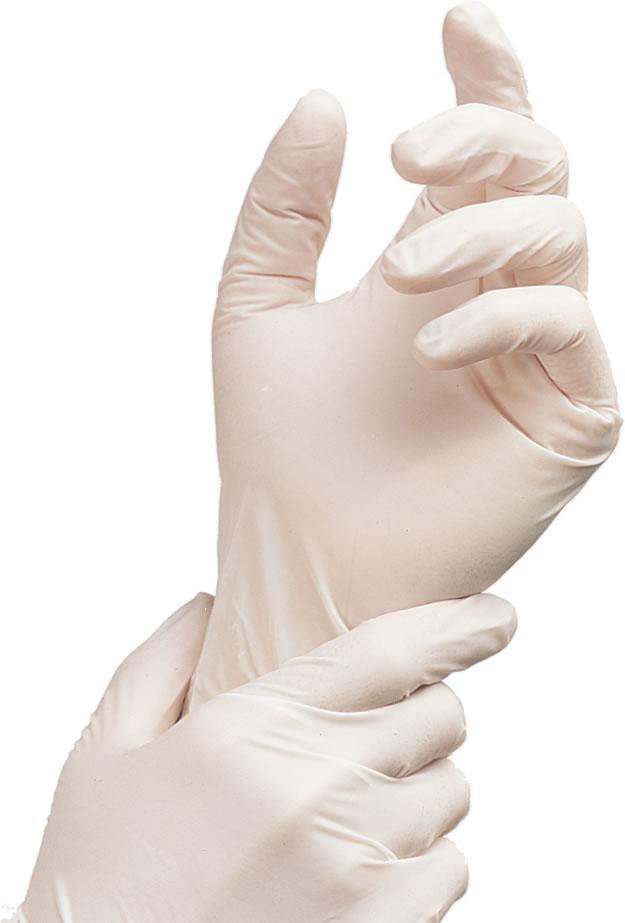 Medium White Latex Gloves R R Packaging