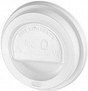 White Biodegradable Travel Sip Lids 10-16oz x1000