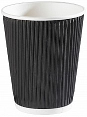 12oz Black Ripple Coffee Cups x500