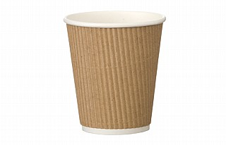 12oz Kraft Ripple Coffee Cups x500