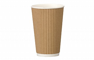 16oz Kraft Ripple Coffee Cups x500