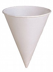 4oz Paper Water Drinking Cones x5000