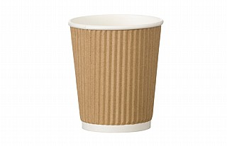 8oz Kraft Ripple Coffee Cups x500