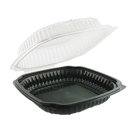 Microwaveable Food Container With Hinged Lid Large x 100