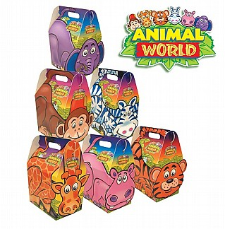 Kids Animal World Party Boxes x250