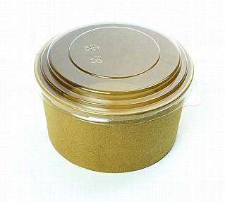 Clear PET Round Lid 1000ml x 300