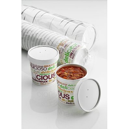 16oz 'DELIcious' Heavy Duty Soup Containers x 500