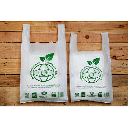 Degradable Carrier Bags 11 x 17 x 21