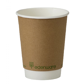 12oz Edenware Double Wall Compostable Cup x 500