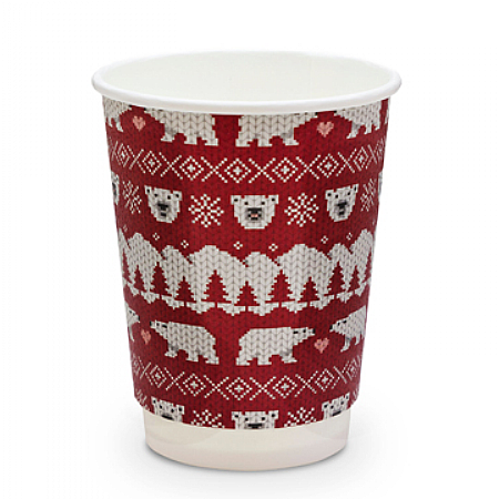 Christmas Cup Compostable Polar Bear 12oz x 500