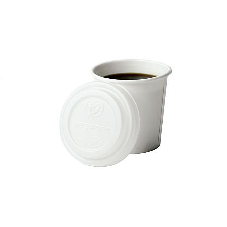 4oz 62mm Compostable Hot Cup Lid (fits 4oz cup)