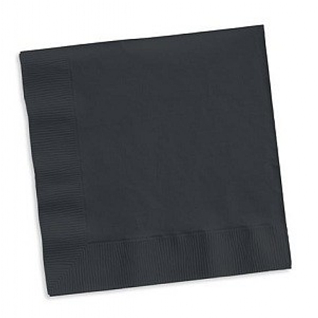 Black Cocktail 25cm Napkins / Serviettes