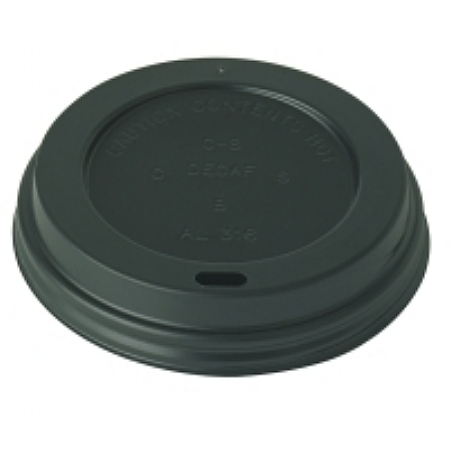 Black Travel Sip Lids 12 / 16 oz x1000
