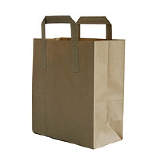 Brown Paper Takeaway Bags (small)