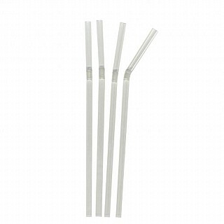 Clear Flexible Drinking Straws