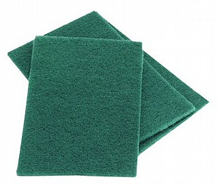 Heavy Duty Green Scourer Pads - 10 Pack