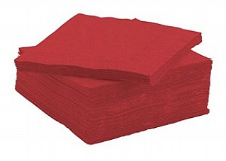 Red Serviettes / Napkins - 33cm