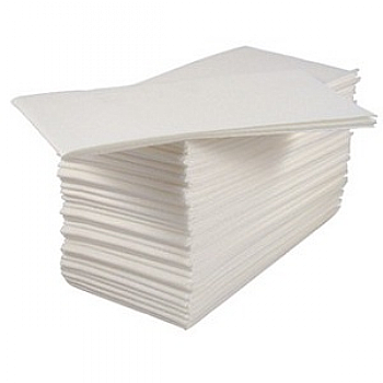 White 8 fold serviettes r r packaging - Seche serviette 40 cm ...