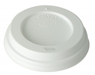 White Travel Sip Lids 8 oz x1000