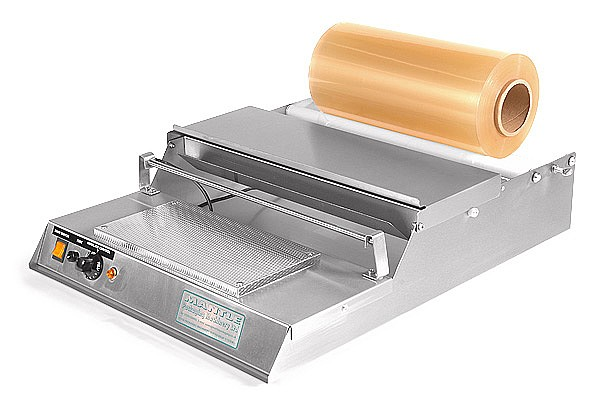 food tray wrapping machine with stretch