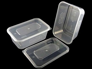 Clear Microwavable Containers & Lids 1000cc